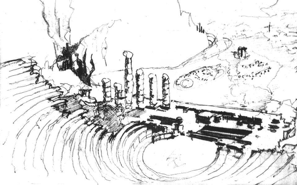 Αλβαρ Ααλτο, Δελφοί, μολύβι, 1953