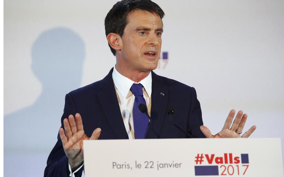Ο πρώην πρωθυπουργός της Γαλλίας, Μανουέλ Βαλς