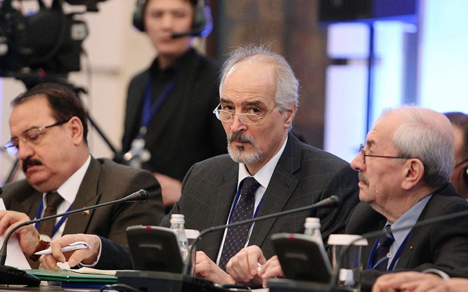 Ο πρέσβης της Συρίας στον ΟΗΕ, Μπασάρ Τζααφάρι, εκπρόσωπος της συριακής κυβέρνησης.