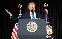 O πρόεδρος των ΗΠΑ, Ντόναλντ Τραμπ, μιλάει στην Ενωση των Σερίφηδων μεγάλων Κομητειών στην Ουάσιγκτον. Τα ξημερώματα μίλησε στο τηλέφωνο με τον Τούρκο πρόεδρο Ταγίπ Ερντογάν.