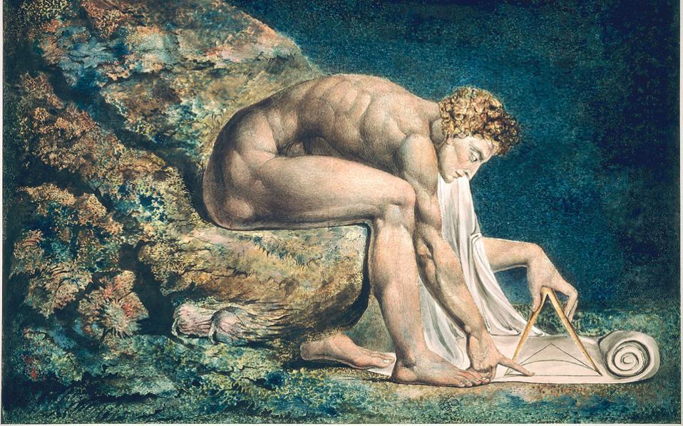 «Νεύτων» (1795). Οταν ο Ουίλλιαμ Μπλέικ ήταν 10 ετών, οι γονείς του τον έστειλαν στο Σχολείο Σχεδίου Χένρι Παρς, το καλύτερο στο Λονδίνο.