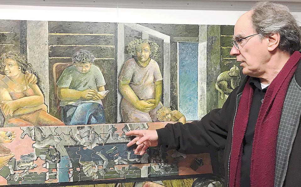 Ο Στάθης Βατανίδης εξηγεί το «Παζλ», έργο του 2016, στον «Τεχνοχώρο».