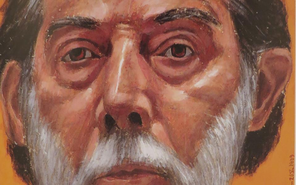 Αυτοπροσωπογραφία του καλλιτέχνη.