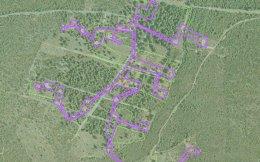 Ο «οικισμός» αυθαιρέτων έχει σχήμα... χταποδιού, ώστε μεμονωμένα αυθαίρετα, που συνδέονται με λωρίδες γης, να σχηματίσουν την ομάδα τουλάχιστον 50 κτιρίων που εξαιρείται από τους δασικούς χάρτες.