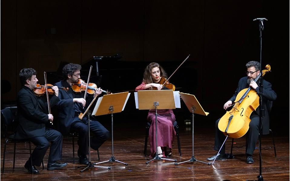 """Έργα Ρώσων και Σοβιετικών συνθετών απέδωσαν οι μουσικοί του συνόλου """"Κύκλος"""" (φωτ.: Χ. Ακριβιάδης)"""