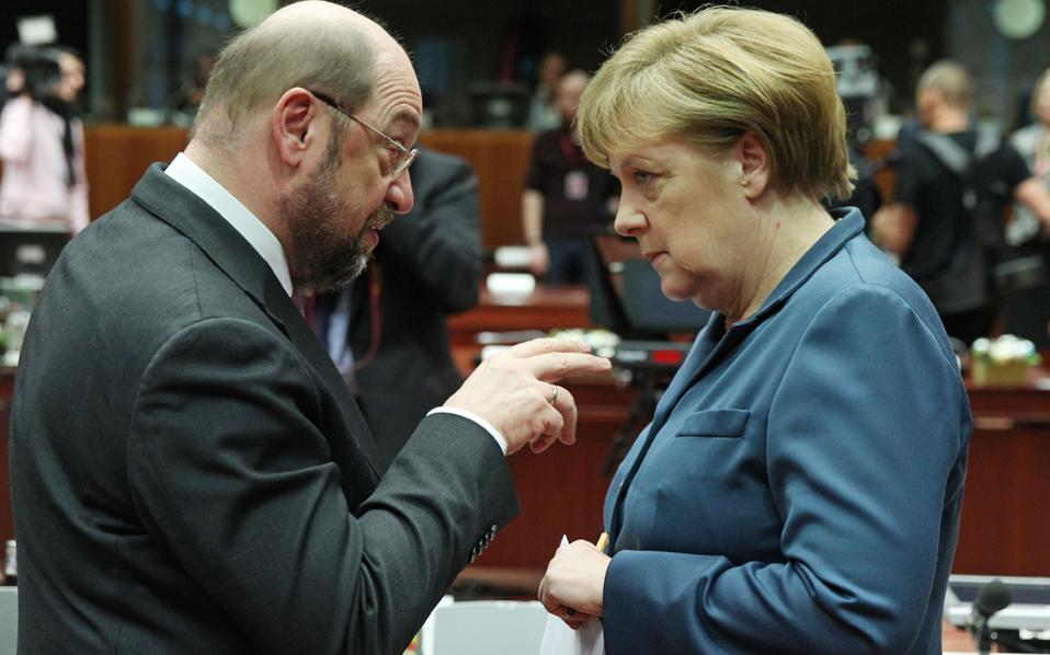 Δεν έχει σημασία εάν ο Μ. Σουλτς εκπροσωπεί πράγματι κάτι καινούργιο – αρκεί ότι έτσι γίνεται αντιληπτός από σημαντική μερίδα πολιτών, κάτι που ανησυχεί την κ. Μέρκελ.