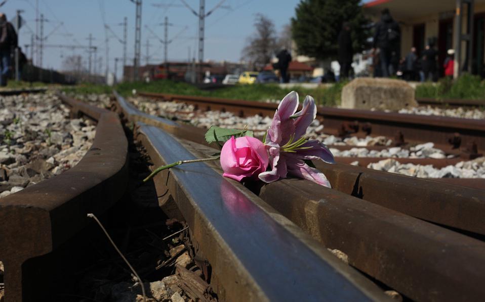 Στιγμιότυπο από την πορεία μνήμης για τους Ελληνες Εβραίους θύματα των ναζί στη Θεσσαλονίκη, τον Μάρτιο του 2016.