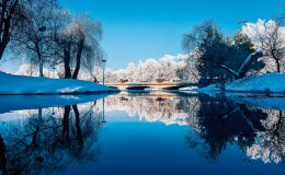 Tο Πάρκο του Καρόλου φοράει τα χειμωνιάτικά του. (Φωτογραφία: SHUTTERSTOCK)