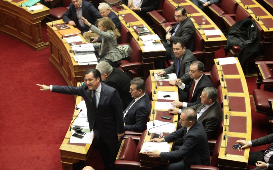 Ο αντιπρόεδρος της Ν.Δ. Αδ. Γεωργιάδης, με την πληθωρική δημόσια παρουσία, είναι αυτός που, συχνά, δίνει τον τόνο της «γαλάζιας» αντιπολίτευσης.