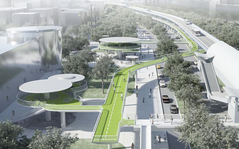 Ο νέος ποδηλατόδρομος της Σιαμέν.