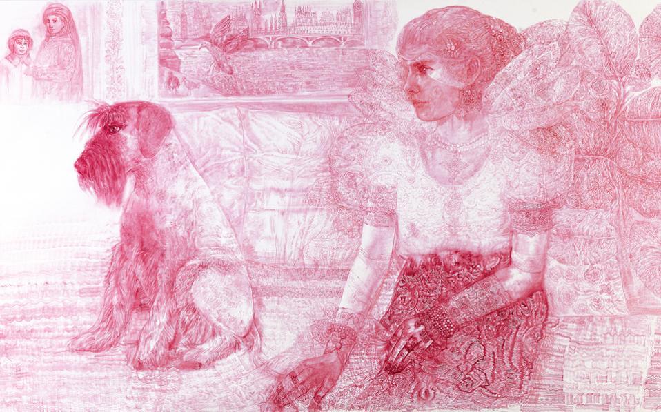 Γυναίκες πρωταγωνιστούν στα καινούργια έργα της Καλλιόπης Ασαργιωτάκη. «Με ενδιαφέρει η θηλυκότητα, ο έρωτας», λέει η ζωγράφος.