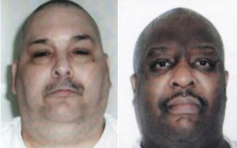 Οι εκτελεσθέντες Τζακ Τζόουνς (αριστερά) και Μάρσελ Ουίλιαμς.