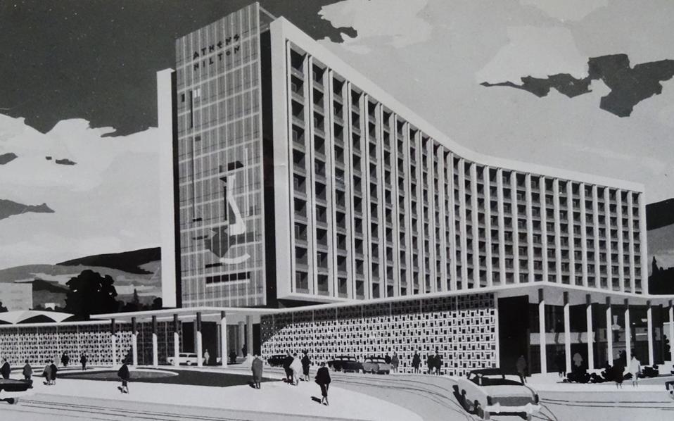 Η μακέτα του Χίλτον, το οποίο εγκαινιάστηκε το 1963 και συμβόλισε τον αέρα φρεσκάδας που έπνεε στη χώρα – έως το 1967.