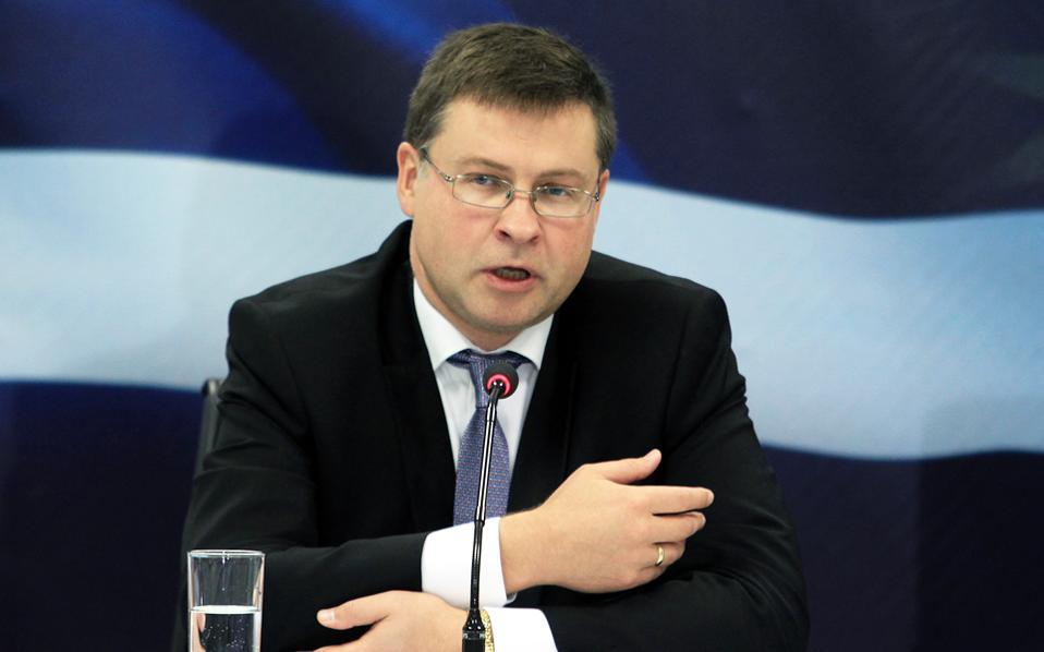 «Η Ελλάδα θα μπορεί να αυτοχρηματοδοτείται από το καλοκαίρι του 2018», εκτίμησε ο αντιπρόεδρος της Ε.Ε., Β. Ντομπρόβσκις.