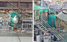 «Την πιο χαρούμενη στιγμή του αεροπλάνου» αποκαλούν οι μηχανικοί της Boeing αυτό το στάδιο παραγωγής, γιατί το πρόσωπο του αεροσκάφους «γελάει».