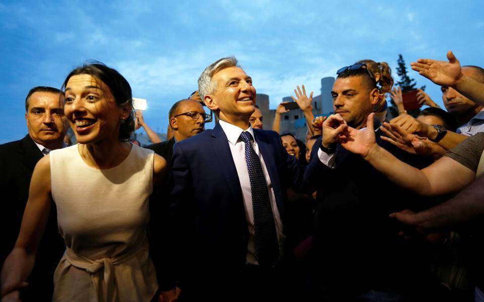 Ο ηγέτης του αντιπολιτευόμενου Εθνικιστικού Κόμματος της Μάλτας, Σίμον Μπισούτι, λίγες ημέρες πριν από την εκλογική αναμέτρηση της 3ης Ιουνίου.