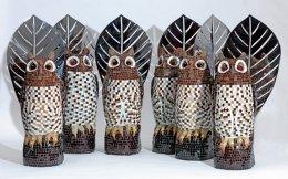 «Γλαύκες» της Αφροδίτης Λίτη από την έκθεση στο Αρχαιολογικό Μουσείο του Πόρου.