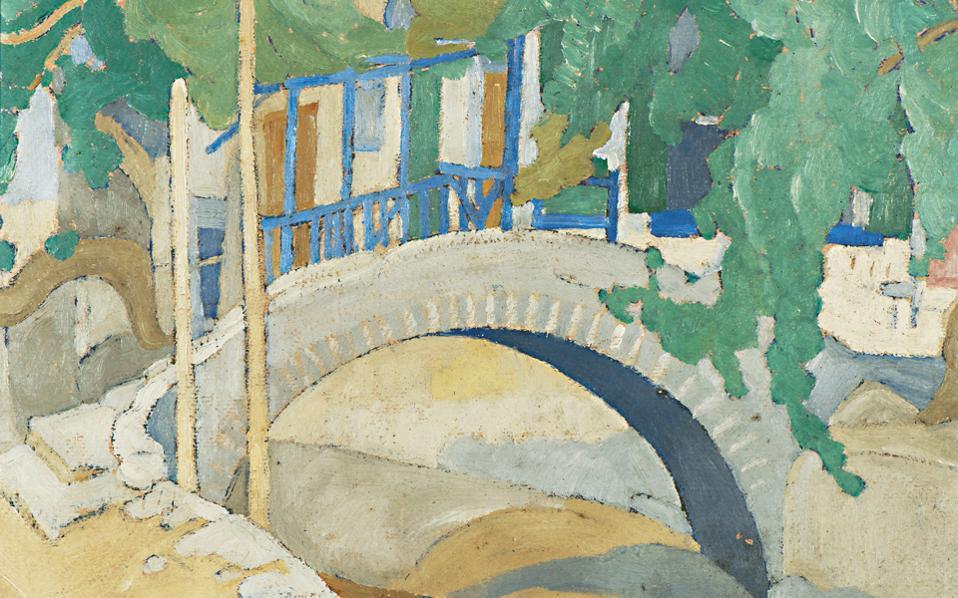 «Γεφύρι» του Σπύρου Παπαλουκά (τιμή εκτίμησης 15.000 - 20.000 ευρώ). Ενα από τα 99 έργα Ελλήνων καλλιτεχνών που δημοπρατούνται στις 26 Μαΐου στο Ζάππειο Μέγαρο (ώρα 7 μ.μ.).