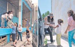 Την προηγούμενη εβδομάδα οι εθελόντριες από τις ΗΠΑ πήγαν στα Οινόφυτα για να μοιράσουν ήδη ρουχισμού, εργάστηκαν στην αποθήκη του Ελληνικού, ενώ προσπάθησαν να αφουγκραστούν τις ανάγκες προσφύγων – μικρών και μεγάλων.