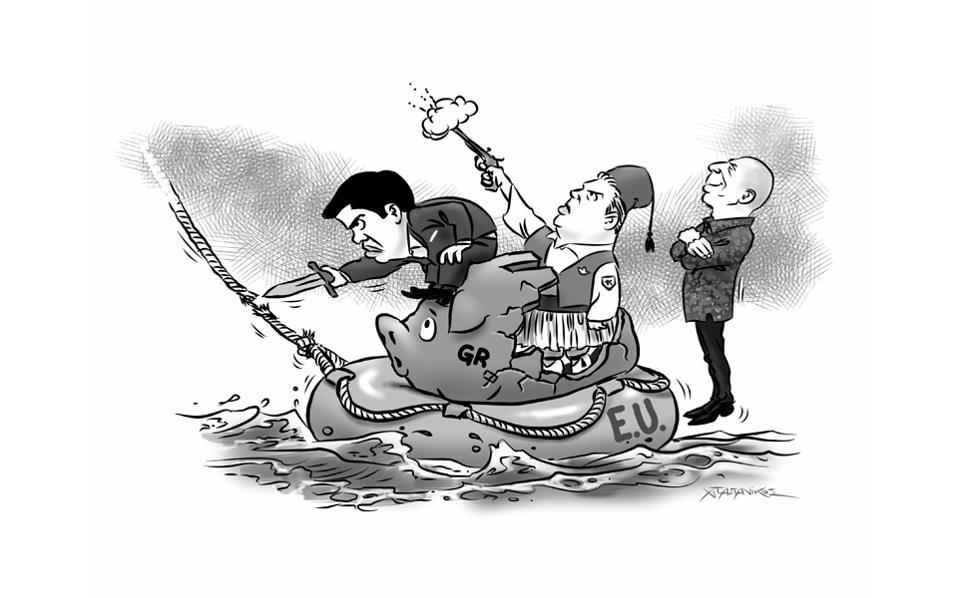 Σκίτσο του Χρήστου Παπανίκου από το βιβλίο του Αλέξη Αρβανίτη.