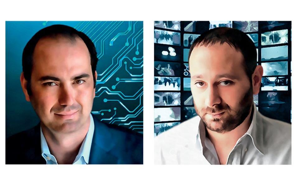 Από αριστερά: Κρίστιαν Χερνάντεζ, Ντέιβιντ Πατρικαράκος © Εικονογράφηση: Νίκος Κούρτης