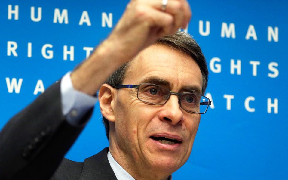 O εκτελεστικός διευθυντής του Παρατηρητηρίου για τα Ανθρώπινα Δικαιώματα Kένεθ Ροθ.