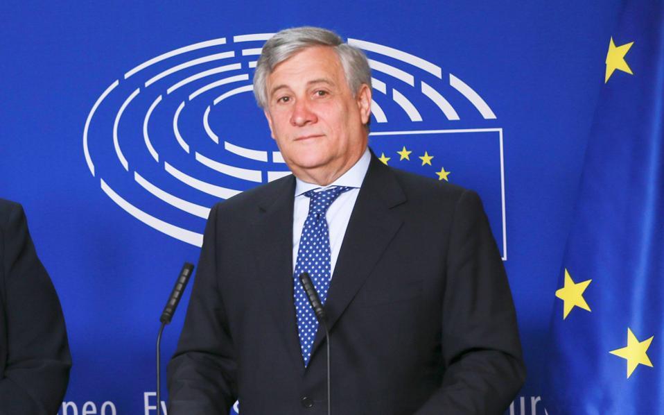O πρόεδρος του Ευρωπαϊκού Κοινοβουλίου Αντόνιο Ταγιάνι.