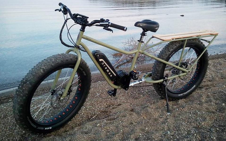 Ο «Ημίονος» του Δ. Πατούνη είναι ένα καινοτόμο ηλεκτρικό ποδήλατο.