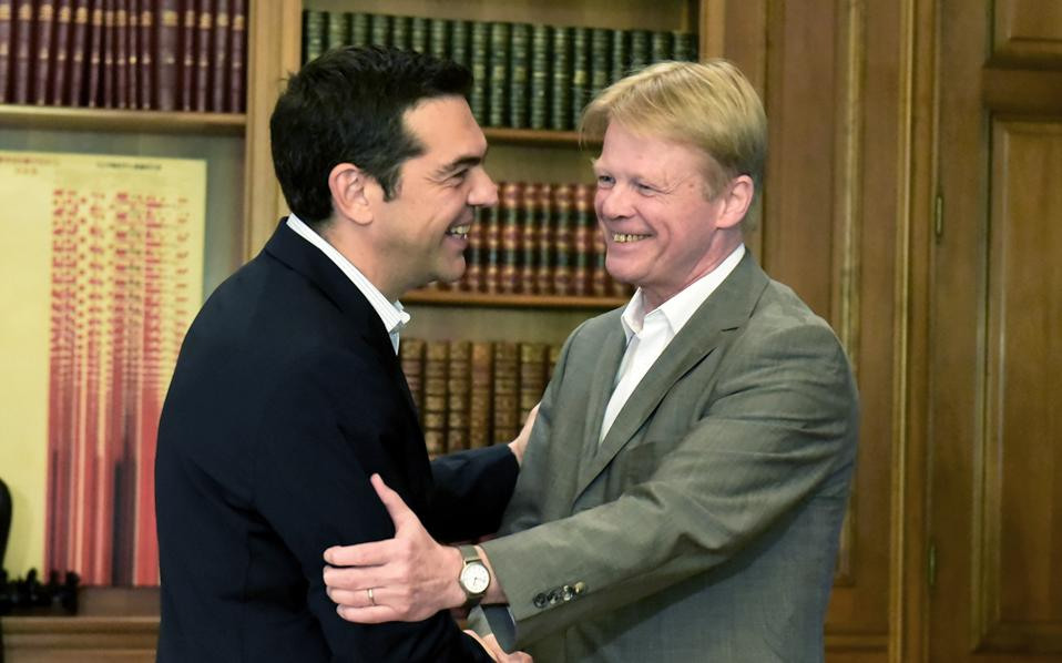 Ο Αλ. Τσίπρας συναντήθηκε χθες με τον Ράινερ Χόφμαν, πρόεδρο της Γερμανικής Ομοσπονδίας Συνδικάτων.
