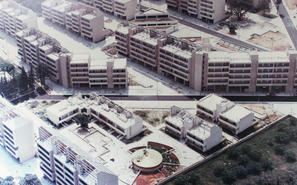 Άποψη του οικισμού όταν ολοκληρώθηκε, τέλη της δεκαετίας του '80.