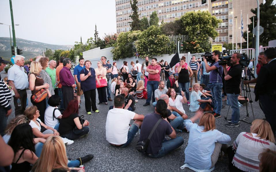 Από την προχθεσινή διαμαρτυρία κατοίκων Μενιδίου.