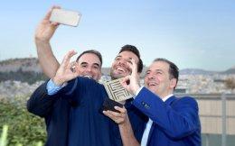 Ο Κ. Μπατσιώλας, ο Π. Χατζηδάκης και ο Γ. Θρασκιάς είναι οι τρεις δημιουργοί της εφαρμογής «Bubbllz».