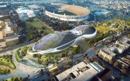 Τρισδιάστατη αρχιτεκτονική απεικόνιση του μουσείου του Αμερικανού σκηνοθέτη της σειράς «Ο πόλεμος των άστρων» Τζορτζ Λούκας, η ανέγερση του οποίου θα ξεκινήσει το 2018 στο Εκθεσιακό Πάρκο του Λος Αντζελες. Το συμβούλιο της καλιφορνέζικης πόλης αποφάσισε ομόφωνα, με ψήφους 14-0, την έγκριση του σχεδίου για τη δημιουργία Μουσείου Αφηγηματικής Τέχνης, το οποίο θα φιλοξενεί τη συλλογή του Λούκας, από το κράνος του Darth Vader και το πρώτο φωτόσπαθο του Luke Skywalker μέχρι αντικείμενα από τις ταινίες «Μάγος του Οζ» και «Καζαμπλάνκα».