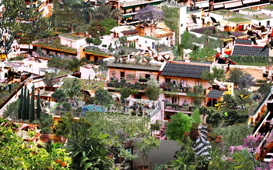 Το πρότζεκτ PolyGarden City προτείνει βελτίωση του υπάρχοντος δομημένου ιστού με φυτεύσεις και αξιοποίηση κάθε επιφάνειας.