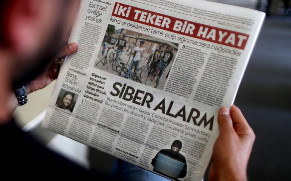 Τουρκική εφημερίδα τιτλοφορεί το πρωτοσέλιδό της με την επίθεση μέσω του λογισμικού ExPetr.