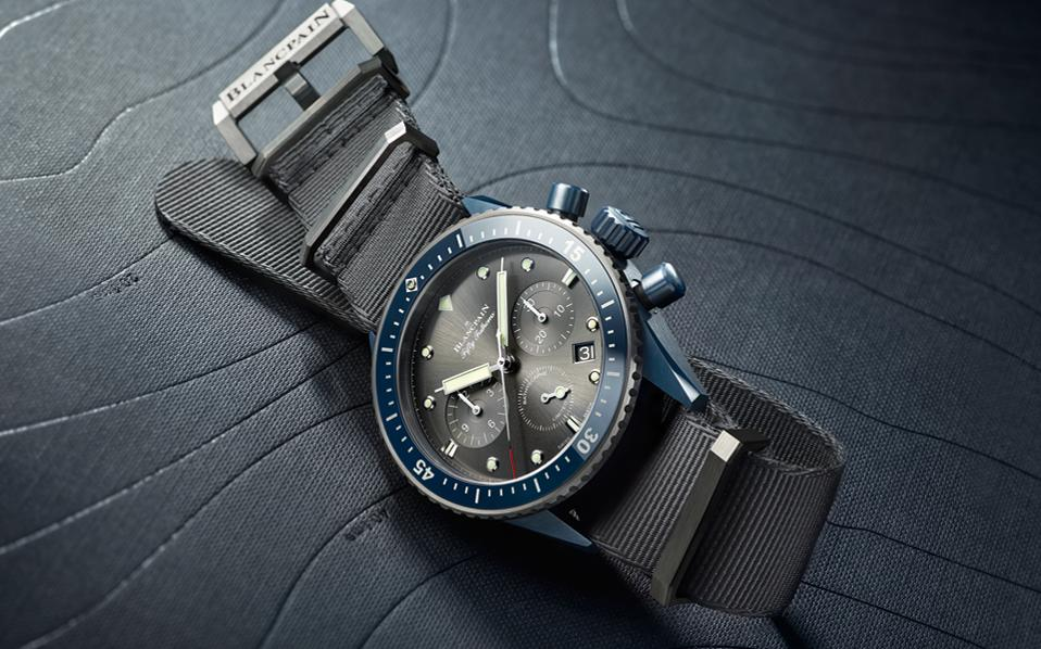 To BLANCPAIN Fifty Fathoms Bathyscaphe Chronographe Flyback Ocean Commitment II