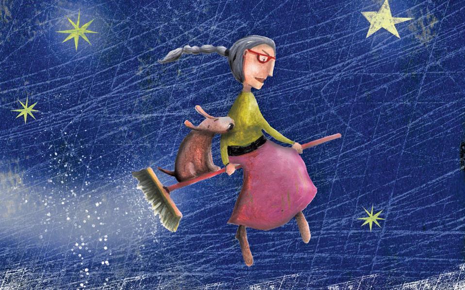 Εικονογράφηση της Ιριδος Σαμαρτζή για το βιβλίο «Γιαγιά στο ψυγείο» της Βούλας Μάστορη, που κυκλοφορεί από τις εκδόσεις Ψυχογιός.
