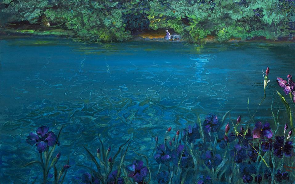 «Ιριδες στα νερά» (2016). Εργο της Ειρήνης Ηλιοπούλου (αίθουσα τέχνης ena contemporary/kaplanon galleries).