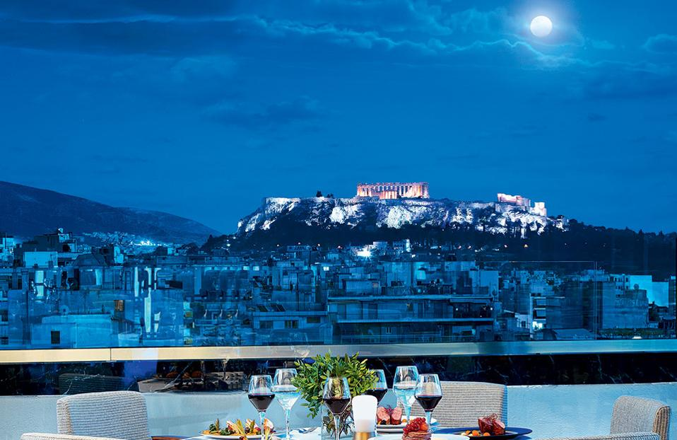 Wyndham Grand Athens  - Above Roof Top Pool Bar  & Restaurant