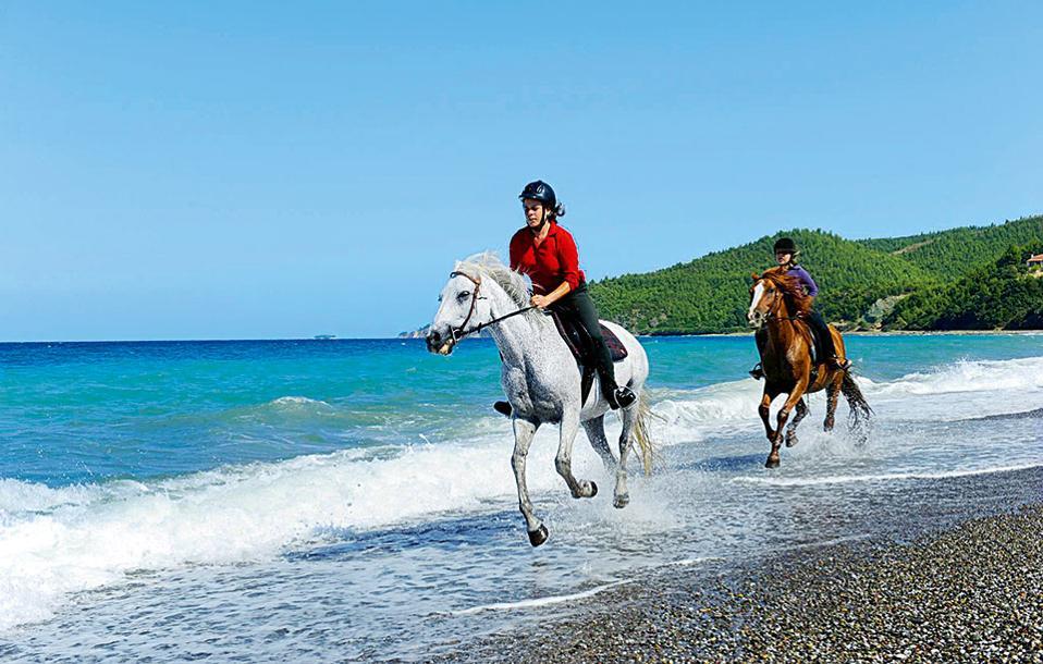Γνωρίστε την παραλία Ψαροπούλι κάνοντας ιππασία. (Φωτογραφία: ΒΑΓΓΕΛΗΣ ΖΑΒΟΣ)