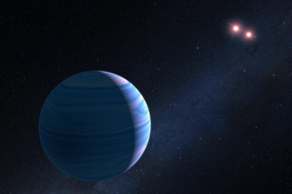 Εξωπλανήτης γύρω από δύο άστρα-καλλιτεχνική απεικόνιση Πηγή NASA, ESA, and G. Bacon (STScI)