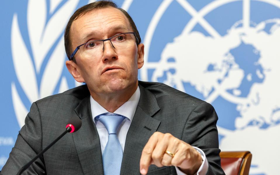 O ειδικός σύμβουλος του γ.γ. του ΟΗΕ για το Κυπριακό, Εσπεν Μπαρθ Εϊντε.
