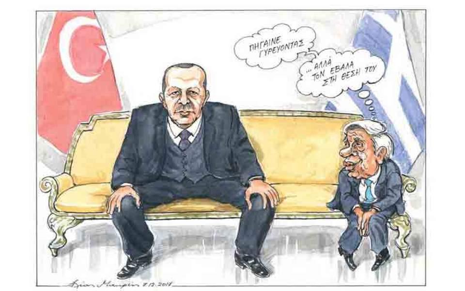 Αποτέλεσμα εικόνας για erdogan visits greece γελοιογραφία