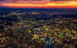 aerial---night---london