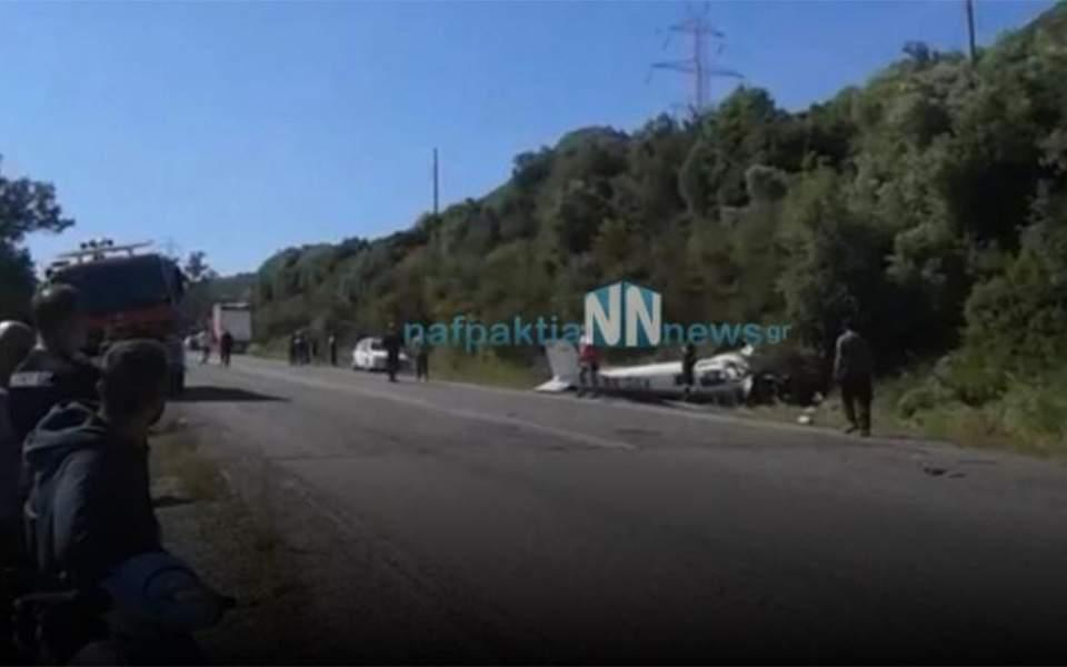 Ενας νεκρός από πτώση διθέσιου αεροσκάφους στη Φωκίδα (βίντεο)