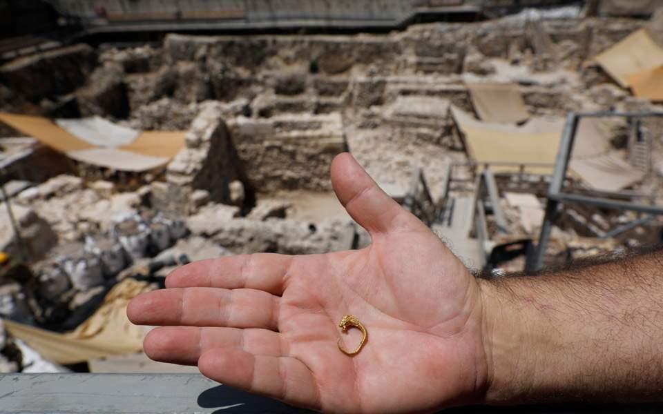 Χρυσό ενώτιο της πρώιμης ελληνιστικής ανακαλύφθηκε στην Ιερουσαλήμ ... 5498a677a40