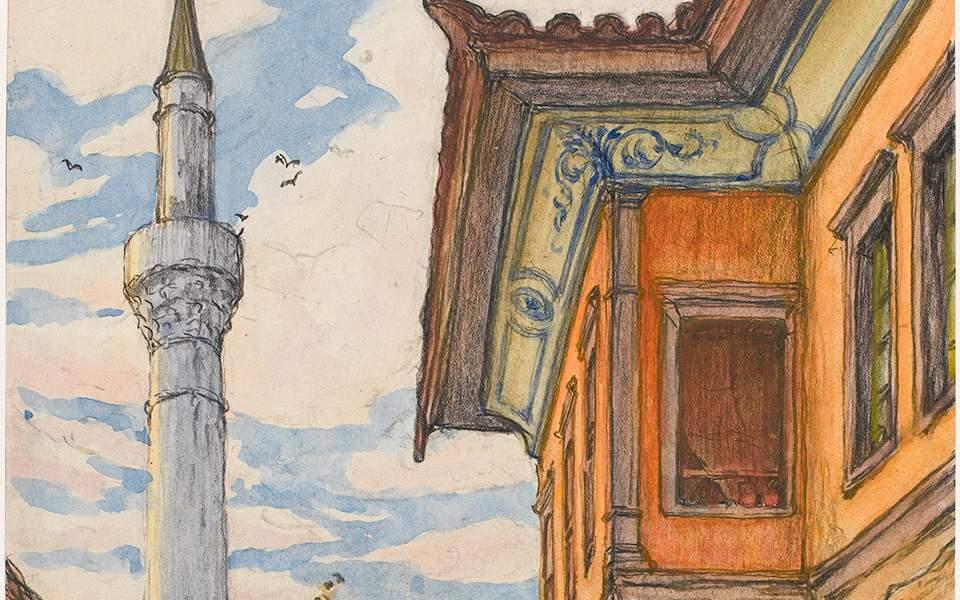 589cd47f89f1 Εργο του Σαρλ Μαρτέλ από την έκθεση «Η στρατιά της Ανατολής ζωγραφίζει στη  Θεσσαλονίκη».