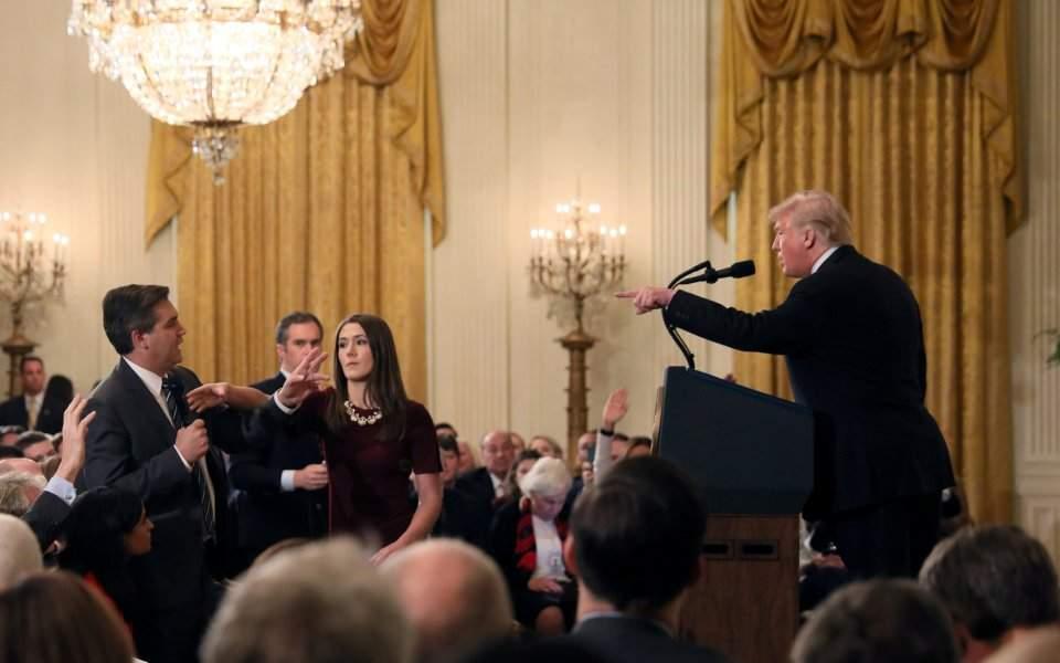 τραμπ δημοσιογραφος