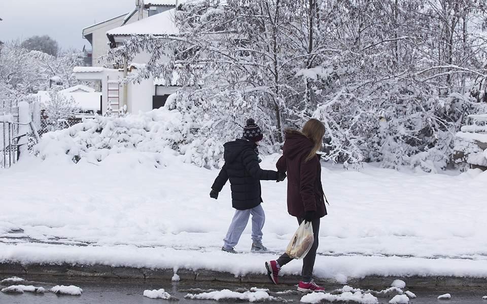 χιονια σχολειο