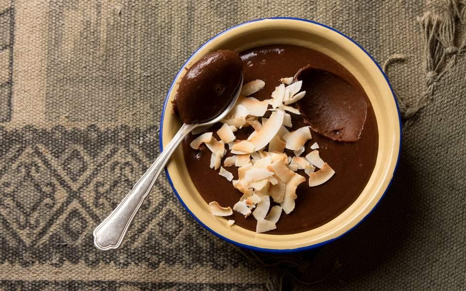 Κρέμα ταχινιού με καρύδα και σοκολάτα